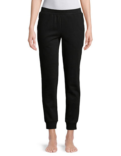 Lord & Taylor Cropped Jogger Pants-BLACK-Large