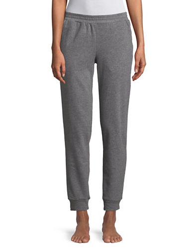 Lord & Taylor Cropped Jogger Pants-DARK GREY-X-Large