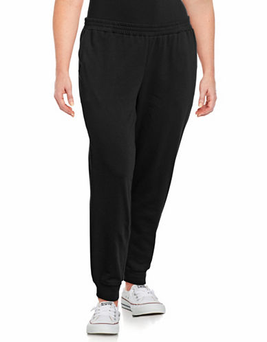 Lord & Taylor Plus Cropped Jogger Pants-BLACK-3X