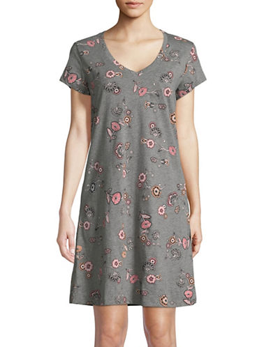 Lord & Taylor Butterfly Cotton Sleepshirt-MARIGOLD-Small