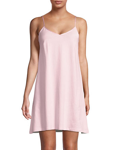 Lord & Taylor Short Chemise-PINK CLOUD-X-Large