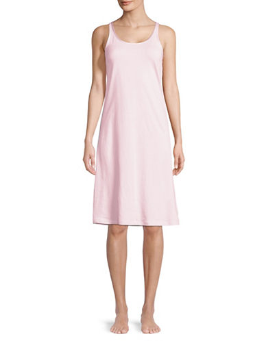 Lord & Taylor Butterfly Cotton Nightgown-PINK CLOUD-X-Large