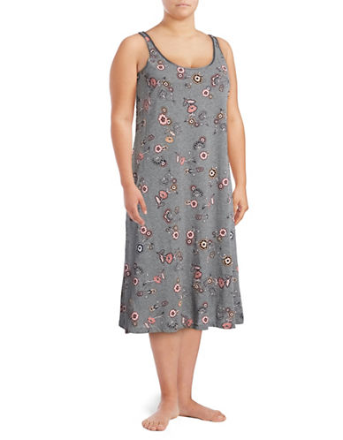 Lord & Taylor Plus Long Chemise-MARIGOLD-2X
