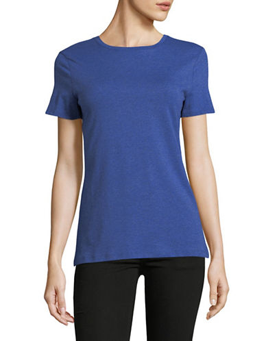 Lord & Taylor Classic Short-Sleeve Tee-BLUE-Medium
