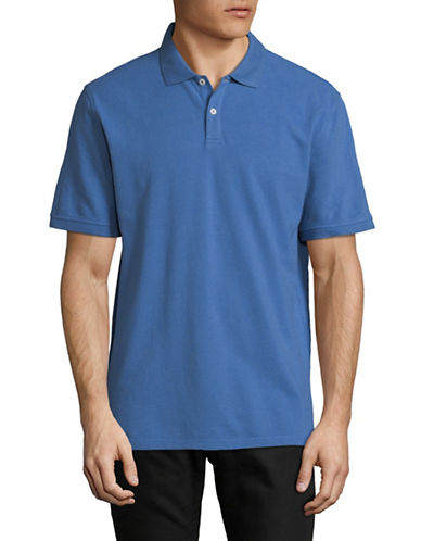 Black Brown 1826 Cotton Pique Short-Sleeve Polo-DARK BLUE-X-Large
