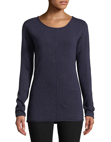 Manguun Seam Front Long-Sleeve Top-BLUE-X-Large