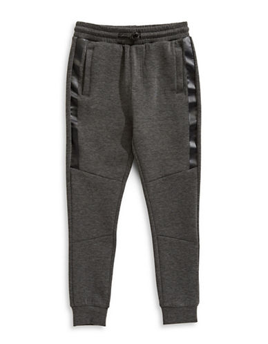 Manguun Knit Pull-On Jogger Pants-GREY-Large