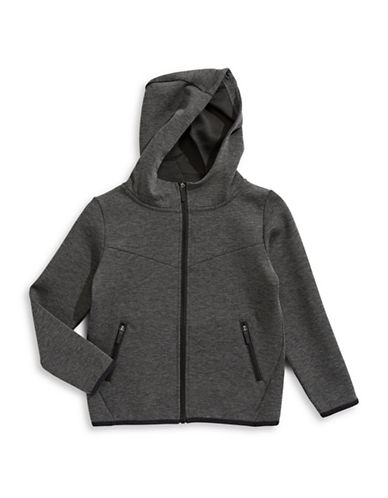 Manguun Zip Hooded Jacket-GREY-X-Large