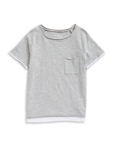 Manguun Short-Sleeve Layer Tee-GREY-X-Large