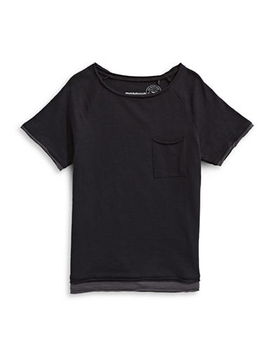 Manguun Short-Sleeve Layer Tee-DARK GREY-Large