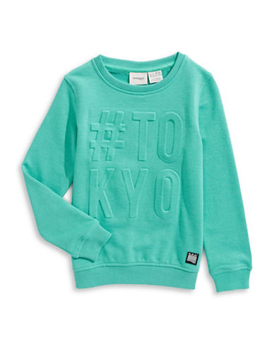 Manguun Crew Neck Sweatshirt-BLUE-Small