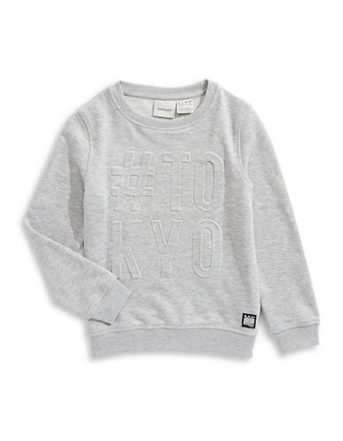 Manguun Crew Neck Sweatshirt-GREY-Large 89697224_GREY_Large