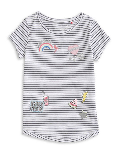 Manguun Striped Patches Tee-GREY/WHITE-Small 89676903_GREY/WHITE_Small