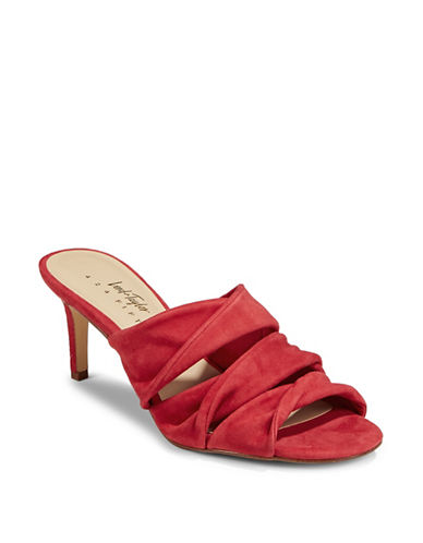 424 Fifth Gala Leather Sandals-RED-9.5