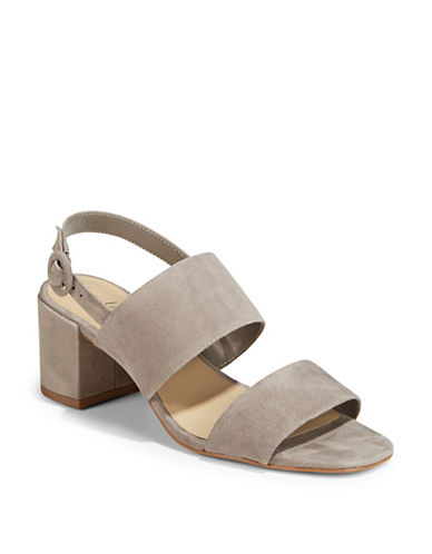 424 Fifth Blocked Slingback Sandals-LIGHT GREY-7.5