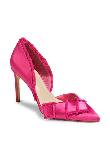 424 Fifth Vale Satin Bow Pumps-FUSCHIA-6.5