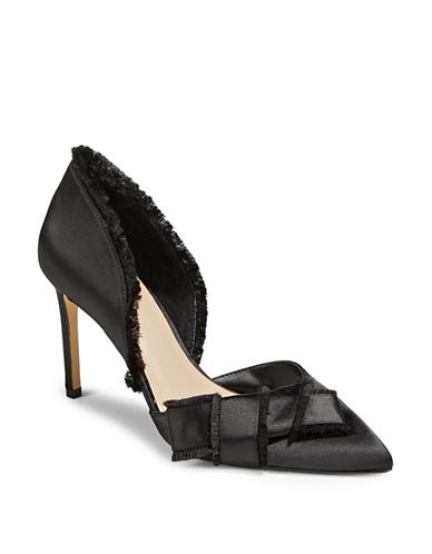 424 Fifth Vale Satin Bow Pumps-BLACK-6.5