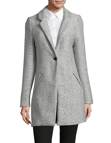 Manguun Herringbone Wool-Blend Lapel Coat-MARSHMALLOW-38