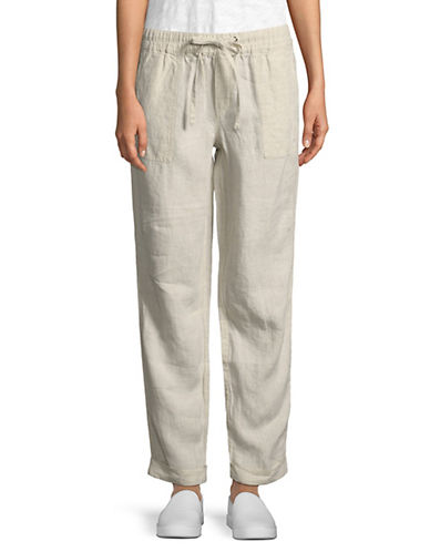 Jaden Drawstring Linen Pants by Lord & Taylor