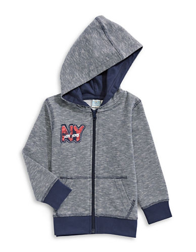 Bob Der Bar Graphic Print Hoodie-BLUE-24 Months