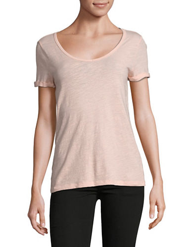 Lord & Taylor Short-Sleeve Cotton Tee-PINK-Medium 89729731_PINK_Medium