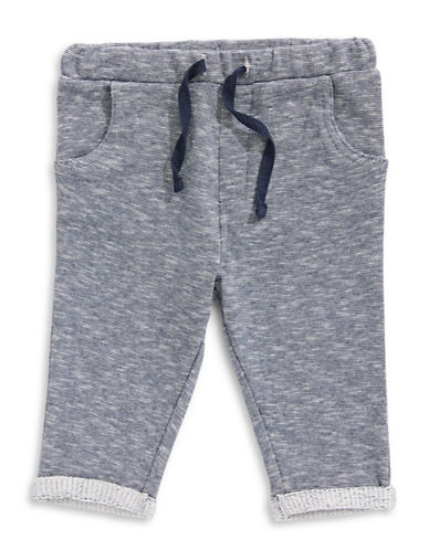 Bob Der Bar Graphic Cotton Sweatpants-BLUE MELA-12 Months