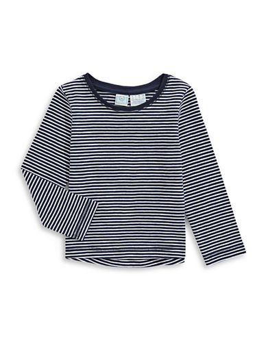 Bob Der Bar Striped Cotton Tee-BLUE-2X