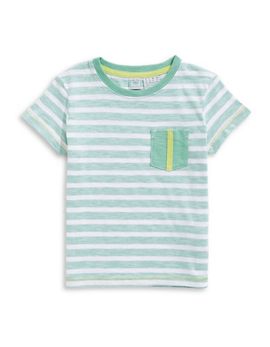 Bob Der Bar Striped Cotton Tee-GREEN-2