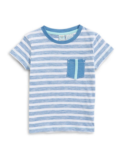 Bob Der Bar Striped Cotton Tee-BLUE-3
