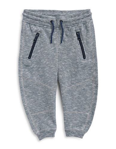 Bob Der Bar Textured Jogger Pants-GREY-3