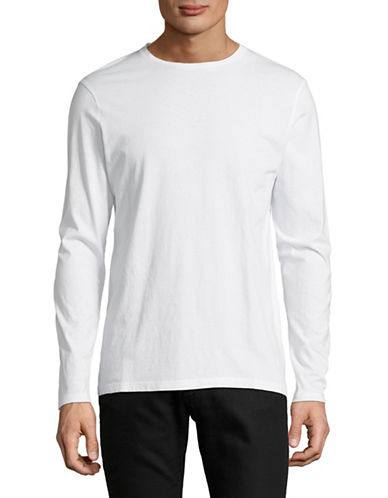 Manguun Long-Sleeve Cotton T-Shirt-WHITE-Medium 89765474_WHITE_Medium
