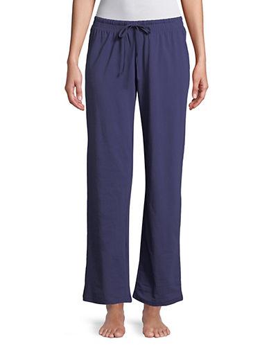 Lord & Taylor Cotton Drawstring Pants-BLUE-X-Large 89855601_BLUE_X-Large