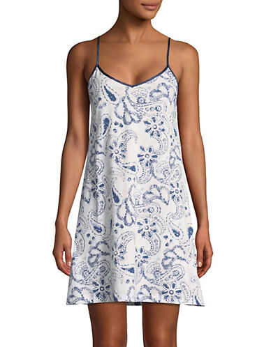 Lord & Taylor Short Chemise-WHITE FLORAL-Large 89855551_WHITE FLORAL_Large
