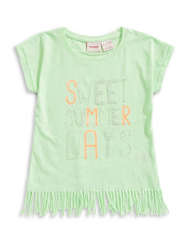 Manguun Fringe Sequin Tee-GREEN-Medium 89764839_GREEN_Medium