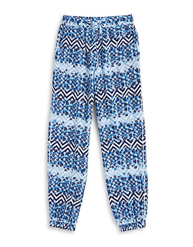 Manguun Printed Pump Pants-BLUE-Medium 89760580_BLUE_Medium