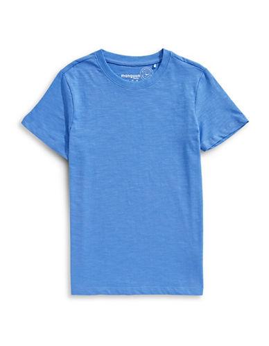 Manguun Basic Cotton Tee-BLUE-X-Large 89764779_BLUE_X-Large