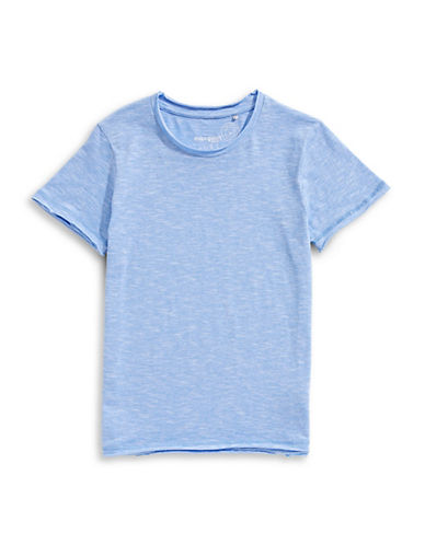 Manguun Short-Sleeve Cotton Tee-BLUE-X-Large 89764893_BLUE_X-Large