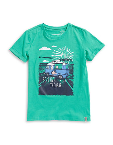 Manguun Hands Up Amigo Cotton Tee-GREEN-Medium 89764900_GREEN_Medium