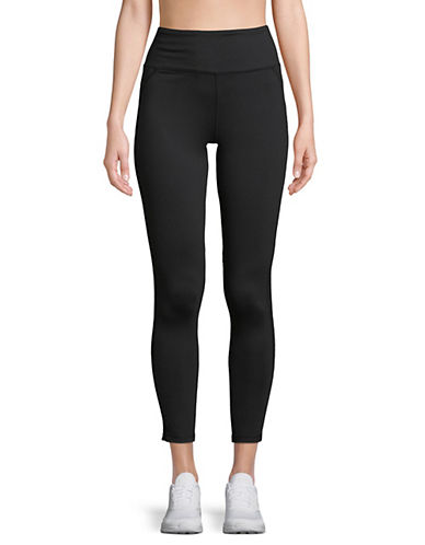 Askya Core Mesh Stripe Jersey Leggings-BLACK-Medium 89773339_BLACK_Medium