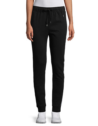 Askya Striped Logo Jogger Pants-BLACK-X-Large 89931641_BLACK_X-Large