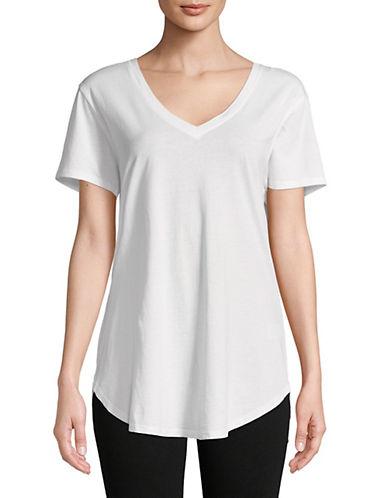 Askya V-Neck Short-Sleeve Tee-WHITE-X-Small 89772420_WHITE_X-Small