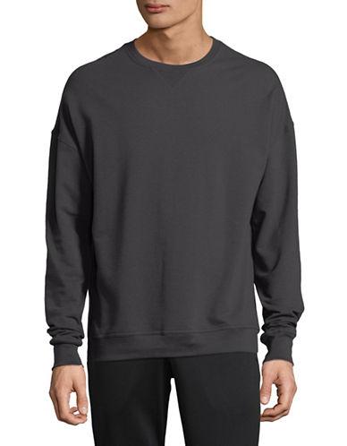 Askya French Terry Crew Sweatshirt-LAVA GREY-X-Large 89772538_LAVA GREY_X-Large