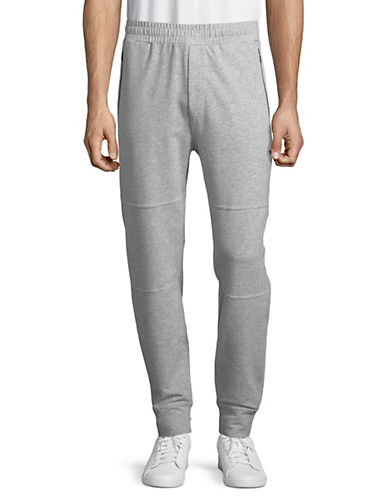 Askya Seamed French Terry Jogger Pants-GREY-Small 89811391_GREY_Small