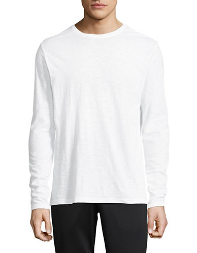 Askya Long Sleeve Crew Neck Tee-WHITE-Large 89778025_WHITE_Large