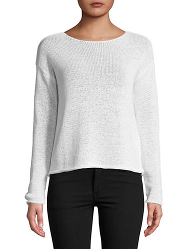 Lord & Taylor Long-Sleeve Boxy Pullover-WHITE-Medium 89869493_WHITE_Medium