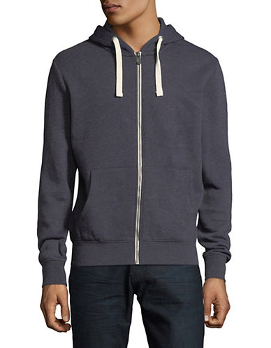 Manguun Cotton-Blend Zip-Up Hoodie-BLUE-Medium 89931619_BLUE_Medium