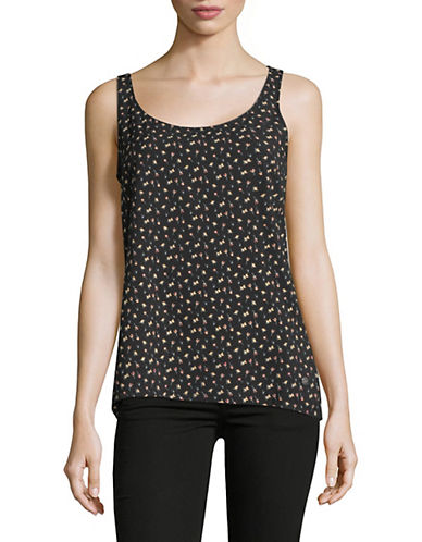 Manguun Floral-Print Tank Top-BLACK-Medium 89845109_BLACK_Medium