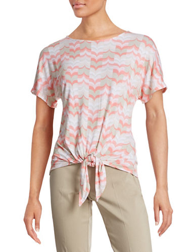 Ruby Rd Chevron Tie Front T-Shirt-PINK-Medium 88286236_PINK_Medium