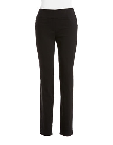 Ruby Rd Slimming Contour Waistband Pants-BLACK-10