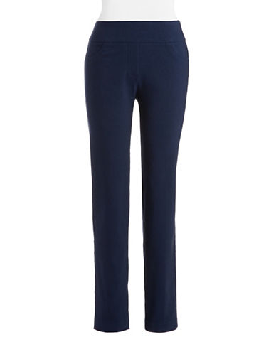 Ruby Rd Slimming Contour Waistband Pants-BLUE-10